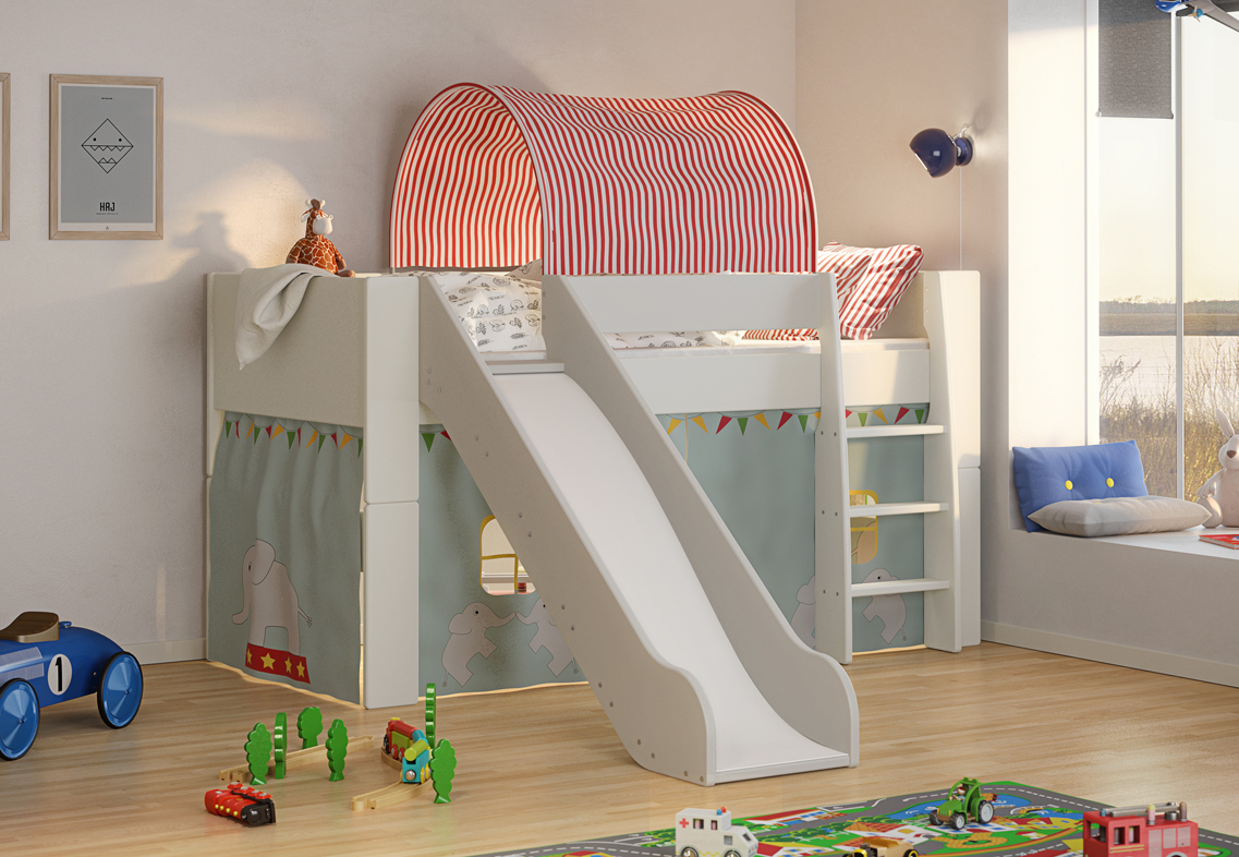 Picture of: Kids Bunk Slide Furniture Showcase Amazing Furniture At Unbelievable Prices